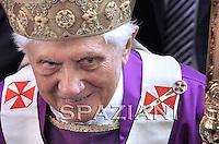 Pastoral visit Benedict XVI to San Giovanni della Croce Parish in Rome March 7, 2010