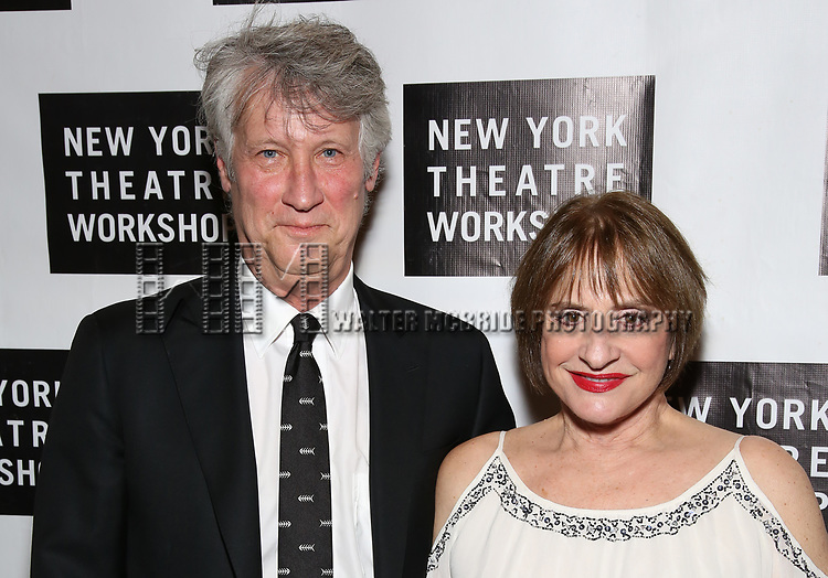Matthew Johnston and Patti LuPone attends New York Theatre Workshop's 2017 Spring Gala at the Edison Ballroom on May 15, 2017 in New York City.