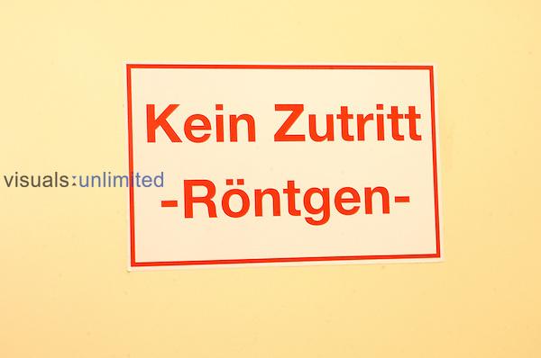 German warning sign 'Kein Zutritt' 'No Access'.. Royalty Free