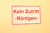 German warning sign 'Kein Zutritt' 'No Access'.. Royalty Free