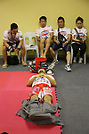 Dae Hwan Kim, Kamma Bantam weight champion,  in locker room before fight<br />