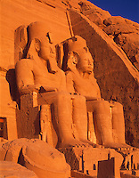 Huge Statues of Ramsses II, Abu Simbel, Egypt   Sun Temple of Ramses II  Nile River/Lake Nasser Ancient Roman Temple   UNESCO World Heritage Site
