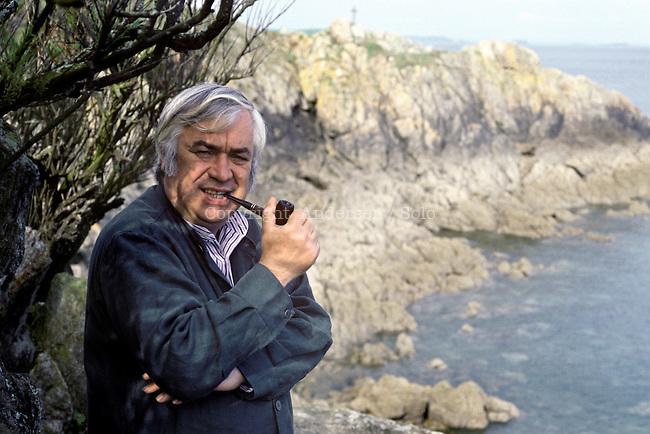 Jacques Meunier during book fair Etonnants voyageurs in Saint Malo in 1994.
