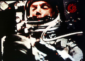 Astronaut John H. Glenn, Jr. is shown during his historic earth-orbital mission aboard Friendship 7 on February 20, 1962.  .Credit: NASA via CNP