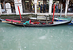 VENICE, ITALY - FEBRUARY 05:  A general view of a gondola resting a side of a partially frozen canal on February 5, 2012 in Venice, Italy. Italy as most of Europe is under a spell of very cold weather, it is more than 20 years aince the Venice Lagoon last froze.  (Photo by Marco Secchi/Getty Images)