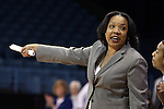 14 November 2014: Howard head coach Tennille S. Adams. The University of North Carolina Tar Heels hosted the Howard University Bison at Carmichael Arena in Chapel Hill, North Carolina in a 2014-15 NCAA Division I Women's Basketball game. UNC won the game 83-49.