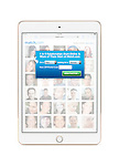 Dating website match.com registration screen on Apple iPad Mini tablet display. Isolated with clipping path on white background.