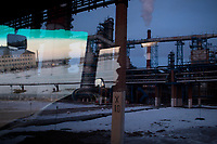A man drives through the grounds of a Bashneft oil refinery in Ufa, Bashkortostan, Russia. The area is a major oil and gas producing region in the country.