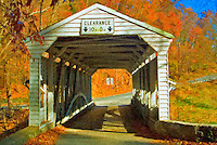 Valley Forge (Knox) Covered Bridge Textured, Fine Art Effect, Historic Valley Forge, Pa, Pennsylvania, National Historical Park,
