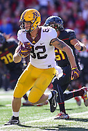 College Park, MD - October 15, 2016: Minnesota Golden Gophers wide receiver Drew Wolitarsky (82) runs after making a catch during game between Minnesota and Maryland at  Capital One Field at Maryland Stadium in College Park, MD.  (Photo by Elliott Brown/Media Images International)