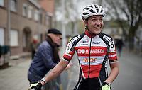 Sophie de Boer (NLD/Kalas-NNOF) post-race<br /> <br /> Jaarmarktcross Niel 2015  Elite Women's Race