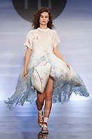 Model walks runway in an outfit by Taylor Ormond, during the Future of Fashion 2017 runway show at the Fashion Institute of Technology on May 8, 2017.