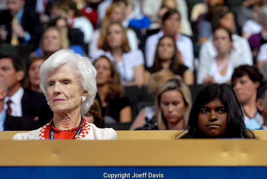 Republican Presidential nominee John McCain's mother Roberta McCain and his daughter Bridget McCain at the 2008 Republican National Convention in St. Paul, Minesota.