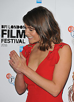 Gemma Arterton at the &quot;Their Finest&quot; 60th BFI London Film Festival press conference &amp; photocall, The May Fair Hotel, Stratton Street, London, England, UK, on Thursday 13 October 2016.<br /> CAP/CAN<br /> &copy;CAN/Capital Pictures /MediaPunch ***NORTH AND SOUTH AMERICAS ONLY***