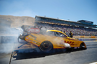 Jul 30, 2016; Sonoma, CA, USA; NHRA funny car driver Del Worsham during qualifying for the Sonoma Nationals at Sonoma Raceway. Mandatory Credit: Mark J. Rebilas-USA TODAY Sports