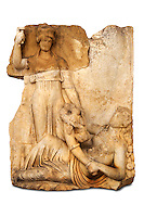 Photo of Roman releif sculpture of Roma & Ge [ Earth ] from  Aphrodisias, Turkey, Images of Roman art bas releifs. Buy as stock or photo art prints.  Cut Out