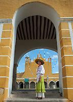 Chef Patricia Quintana in front of the Ex-convento, Izamal, Yucatan, Mexico