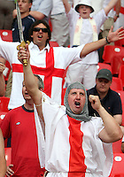 English fans. England defeated Trinidad & Tobago 2-0 in their FIFA World Cup group B match at Franken-Stadion, Nuremberg, Germany, June 15 2006.