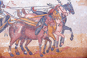 Pictures of the Roman Mosaics of Villa Romana Sicily
