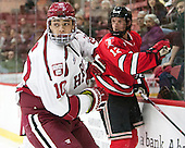 Brayden Jaw (Harvard - 10), (Liljegren) - The Harvard University Crimson defeated the visiting Rensselaer Polytechnic Institute Engineers 5-2 in game 1 of their ECAC quarterfinal series on Friday, March 11, 2016, at Bright-Landry Hockey Center in Boston, Massachusetts.
