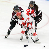 Alex Tancrell-Fontaine (Union - 8), Kayla Tutino (BU - 8), Emma Rambo (Union - 22) - The Boston University Terriers defeated the visiting Union College Dutchwomen 6-2 on Saturday, December 13, 2012, at Walter Brown Arena in Boston, Massachusetts.