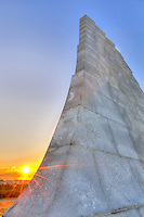 Sunrise at the Wright Brothers Memorial in Kill Devil Hills North Carolina.