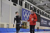SPEED SKATING: SALT LAKE CITY: 18-11-2015, Utah Olympic Oval, ISU World Cup, training, Martin ten Hove (trainer/coach), ©foto Martin de Jong