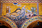 Byzantine mosaics in the Cathedral of Monreale - The Sacrifice of Isaac - Palermo - Sicily Pictures, photos, images &amp; fotos photography