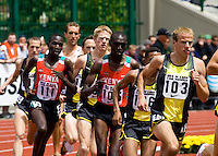 EUGENE, OR--Alan Webb races in the men's 2 mile at the Steve Prefontaine Classic, Hayward Field, Eugene, OR. SUNDAY, JUNE 10, 2007. PHOTO © 2007 DON FERIA