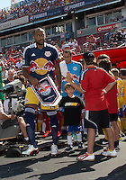 July 20, 2013: New York Red Bulls forward Thierry Henry #14 leads the team onto the pitch during a game between Toronto FC and the New York Red Bulls at BMO Field in Toronto, Ontario Canada.<br /> The game ended in a 0-0 draw.