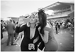 "Racegoers arrive at Aintree Racecourse for ""Ladies Day"" on day two of the Crabbies Grand National Meeting."