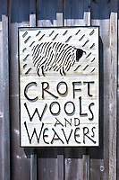 Sign for Croft Wools and Weavers near Applecross in the Highlands of Scotland
