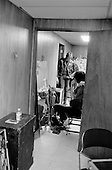 Denver, Colorado<br /> USA<br /> May 9, 1983<br /> <br /> Back stage with the Ramones singer: Joey Ramone (sitting) and drummer (standing) Tommy Ramone.<br /> <br /> The Ramones were an American rock band that formed in Forest Hills, Queens, New York in 1974, often cited as the first punk rock group. Despite achieving only limited commercial success, the band was a major influence on the punk rock movement both in the United States and the United Kingdom.<br /> <br /> All of the band members adopted pseudonyms ending with the surname &quot;Ramone&quot;, though none of them were actually related. They performed 2,263 concerts, touring virtually nonstop for 22 years. In 1996, after a tour with the Lollapalooza music festival, the band played a farewell show and disbanded.<br /> <br /> By a little more than eight years after the breakup, the band's three founding members--lead singer Joey Ramone, guitarist Johnny Ramone, and bassist Dee Dee Ramone--had all died.