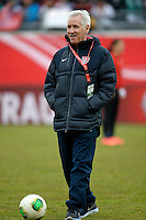 Offenbach, Germany, Friday, April 05 2013: Womans, Germany vs. USA, in the Stadium in Offenbach,  Headcoach Tom Sermanni (USA). .