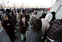 March 17, 2011, Koriyama, Japan - Residents arrive at a temporary shelter in Koriyama, , Fukushima prefecture, on Tuesday, March 15, 2011. Japanese government has issued evacuation orders to people living near a nuclear power, located on the Pacific coast some 35km southeast of Koriyama, which has been experiencing problems in its emergency cooling system since a magnitude 9.0 earthquake hit JapanÅfs northeastern area on March 11. (Photo by AFLO) [3609] -mis-