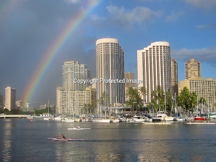 Images from Magic Island Honolulu, HI., during the twilight hour.