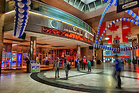 The entrance to the Air Canada Centre from Toronto's Union Station decorated for the Toronto Maple Leafs home opener.