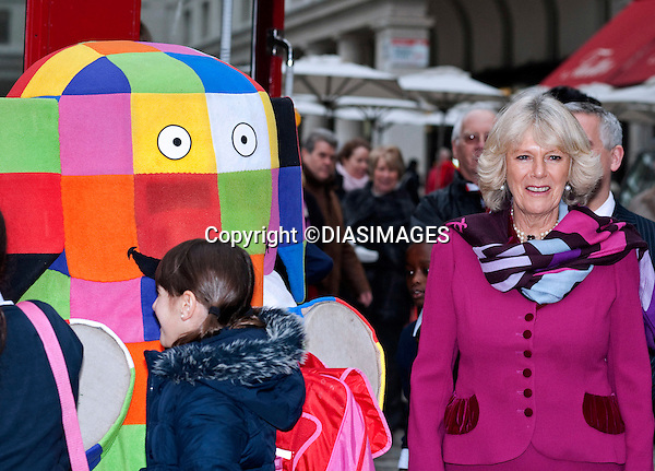 """CAMILLA, Duchess of Cornwall.The Duchess of Cornwall met school children for a storytelling session at Clarence House and afterwards traveled to the London Transport Museum on an iconic Red London Routmaster Bus to mark the 15th anniversary of the National Young Readers' Programme_17/11/2010.Mandatory Photo Credit: ©Dias/DIASIMAGES..**ALL FEES PAYABLE TO: """"NEWSPIX INTERNATIONAL""""**..PHOTO CREDIT MANDATORY!!: DIASIMAGES(Failure to credit will incur a surcharge of 100% of reproduction fees)..IMMEDIATE CONFIRMATION OF USAGE REQUIRED:.DiasImages, 31a Chinnery Hill, Bishop's Stortford, ENGLAND CM23 3PS.Tel:+441279 324672  ; Fax: +441279656877.Mobile:  0777568 1153.e-mail: info@diasimages.com"""