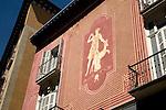 Design on City Centre Facade, Pamplona, Navarra, Spain