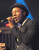NEW YORK, NY - OCTOBER 18: Singer Aloe Blacc performa at the Acumen 15th Anniversary Gala Celebration at Gotham Hall   on October 18, 2016 in New York City. Photo by John Palmer/MediaPunch