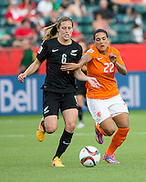 Edmonton, Alberta, Canada - June 6, 2015: The opening day of the Women's World Cup at Commonwealth Stadium. New Zealand was defeated by Netherlands 1-0.