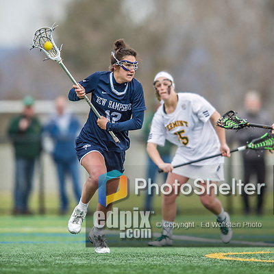 25 April 2015: University of New Hampshire Wildcat Midfielder Brooke McGillis, a Senior from Berwyn, PA, in action against the University of Vermont Catamounts at Virtue Field in Burlington, Vermont. The Lady Catamounts defeated the Lady Wildcats 12-10 in the final game of the season, advancing to the America East playoffs. Mandatory Credit: Ed Wolfstein Photo *** RAW (NEF) Image File Available ***