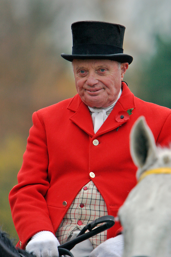 Gloucestershire, England, 08/11/2003..The Berkeley Hunt fox-hunting in what may be the last legal hunting season in the UK, as Parliament moves to ban hunting with dogs.