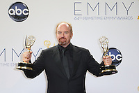 09/23/12 Los Angeles, CA: Louis C.K., Emmy winner for Outstanding writing in a comedy series and writing for a variety special back stage during the 64th Primetime Emmy Awards held at NOKIA Theatre LA LIVE.
