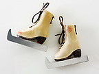 Wooden Christmas skate boots decorations
