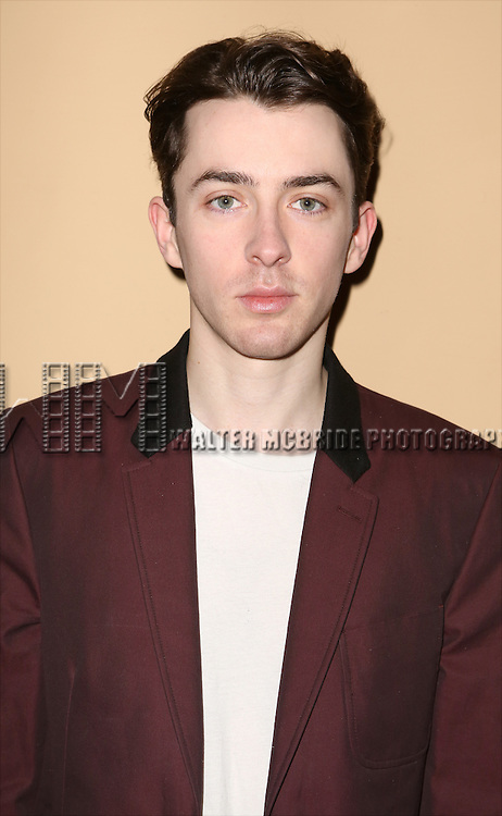 Matthew Beard attends the 'photo call for the Broadway production of Skylark' at the Golden Theatre on March 10, 2015 in New York City.