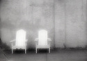 PL12116-00...NORTH CAROLINA - Pinhole image of two chairs along Wilmington's waterfront.
