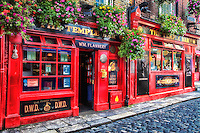 A look at the colourful Temple Bar in Dublin Ireland.