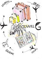 An illustration for Samuel Bucciacchio (president of Goodwill) by Oceane Buret
