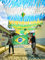 Manaus, Brazil - Sunday, June 22, 2014: Street scene outside Arena Amazonia before USA vs Brazil in the 2014 World Cup.